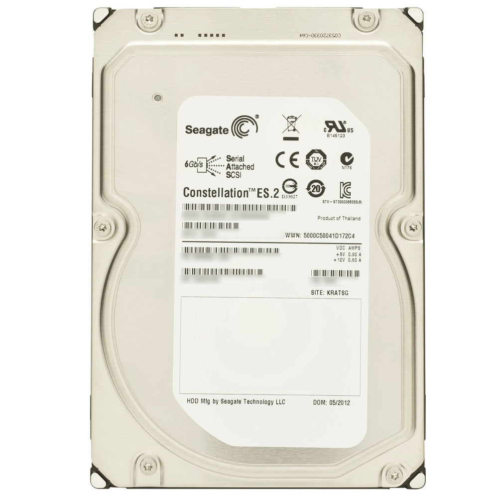 Seagate Constellation ES.2 SEAGATE ST33000650SS 3TB / 3000GB 7.2K 6.0Gbps Serial SCSI / SAS Hard Drive - Brand New --  1 YEAR WARANTY