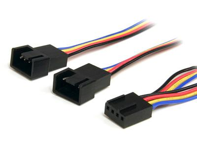 "12"" Power Splitter cable, Connect two 3 or 4-pin (PWM) Fans to a Single Connector"