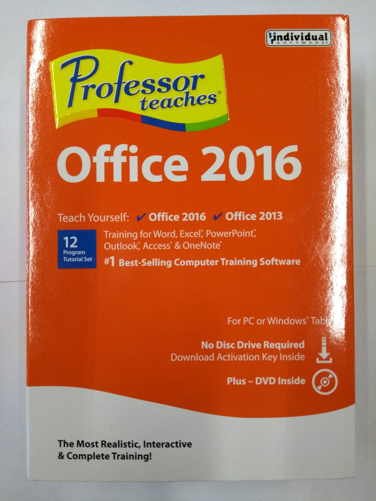 Professor Teaches Office 2016 & 2013 (English/French)