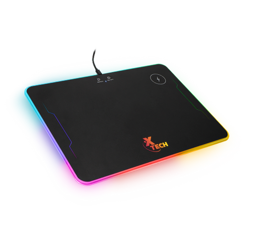 XTech Spectrum RGB hard mouse pad with wireless charger -- 30 Day TTE.CA Warranty - 1 Year XTech Warranty