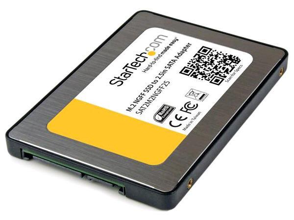 M.2 SSD to 2.5-Inch SATA III Adapter with Protective Housing -- 1 Year StarTech Warranty