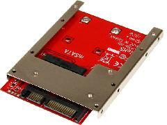 mSATA SSD to 2.5in SATA Adapter Converter -- 2 Year StarTech Warranty