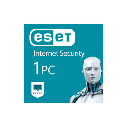 Eset Internet Security  - 1 User - 1 Year License -- Retail Sleeve BIL PC/Android/Mac/Linux
