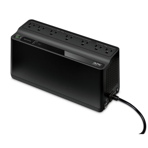 APC BE600M1 Back-UPS 600 VA 330 Watts, 120VA, 7 Outlets Uninterruptible Power Supply (UPS) with USB charging Port -- 2 Year APC Warranty