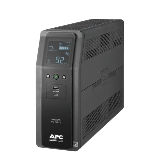 APC Back UPS PRO BR 1000VA, 10 Outlets, 2 USB Charging Ports, LCD interface