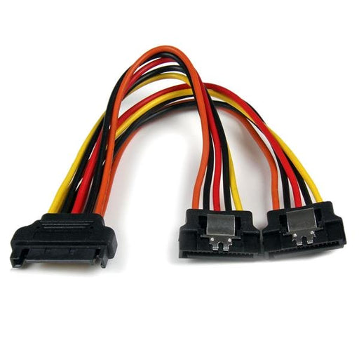 StarTech 6in Latching SATA Power Y Splitter Cable Adapter - M/F