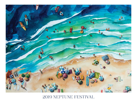 One Way to Keep Your Beach Mood All Year Round: The Neptune Festival Poster