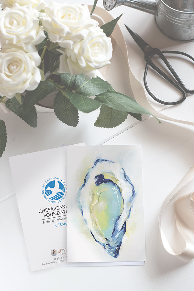 Oyster Painting Featured on Chesapeake Bay Foundation Notecards!
