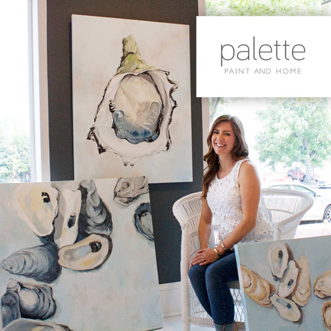 Now Showing at Palette Paint & Home in Richmond, Va, thru 8/31!
