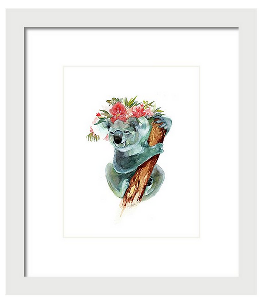 Animals with Floral Crowns: Prints