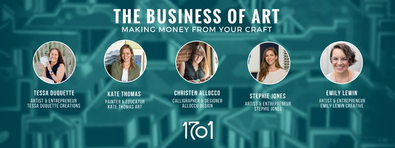 Stephie Jones Artist Panel The Business of Art 1701 Coworking Space Vibe District Virginia Beach