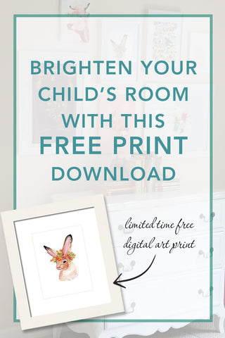 Brighten Your Child's Room: Free Digital Print Download – Stephie