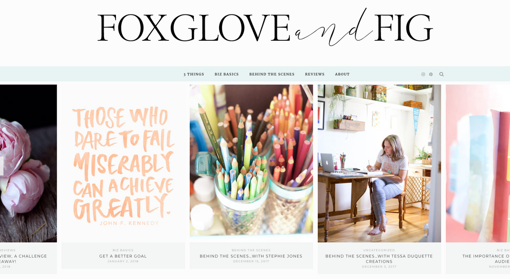 Stephie Jones interview with Foxglove and Fig