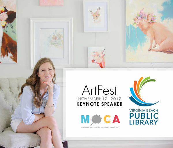 Stephie Jones as KeyNote Speaker at ArtFest in Virginia Beach, Va