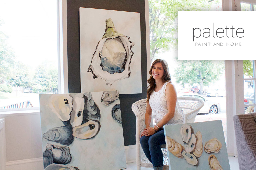 Stephie Jones featured at Palette Paint and Home with artists like Sarah Pope and Duane Cregger