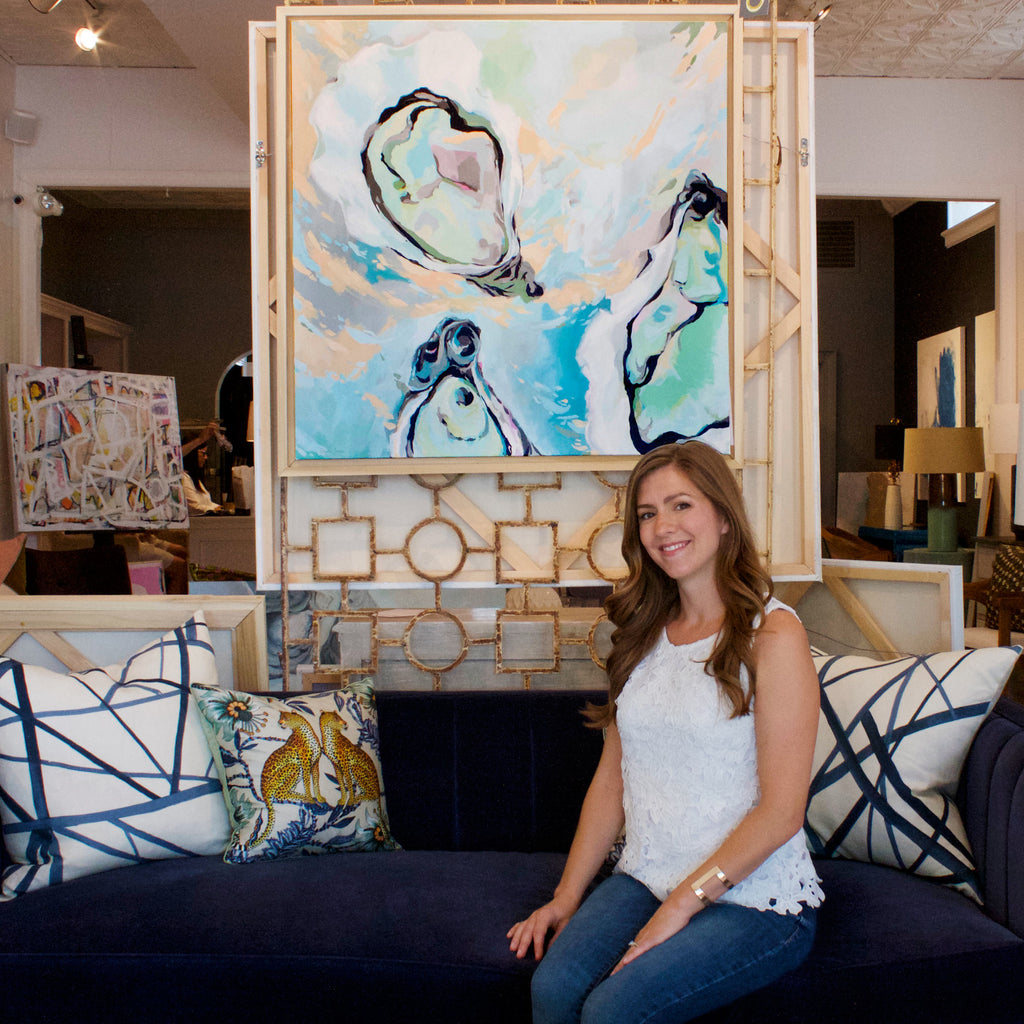Artist Stephie Jones at Palette Paint and Home in Richmond Virginia