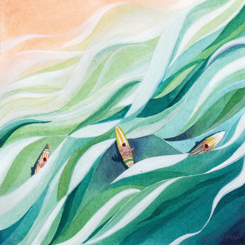 The Swell, Original Painting painting by Virginia Beach Artist Stephie Jones
