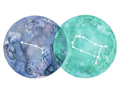 Art Print - Aries And Gemini