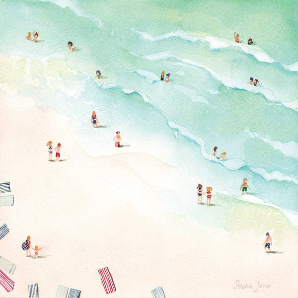 La Playa, Digital Print Download painting by Virginia Beach Artist Stephie Jones