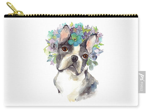 Carry-All Pouch - Amazing Gracie painting by Virginia Beach Artist Stephie Jones