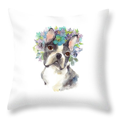 Throw Pillow - Amazing Gracie painting by Virginia Beach Artist Stephie Jones