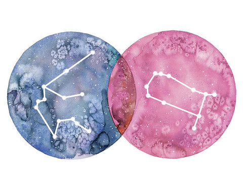Art Print - Aquarius And Gemini