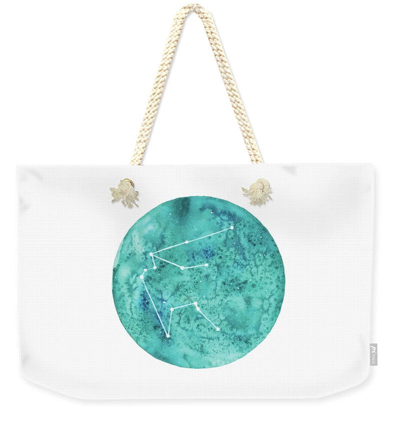Weekender Tote Bag - Aquarius painting by Virginia Beach Artist Stephie Jones