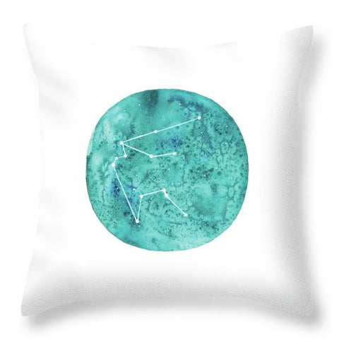 Throw Pillow - Aquarius painting by Virginia Beach Artist Stephie Jones