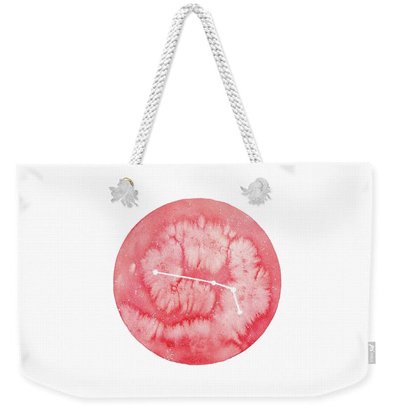 Weekender Tote Bag - Aries painting by Virginia Beach Artist Stephie Jones