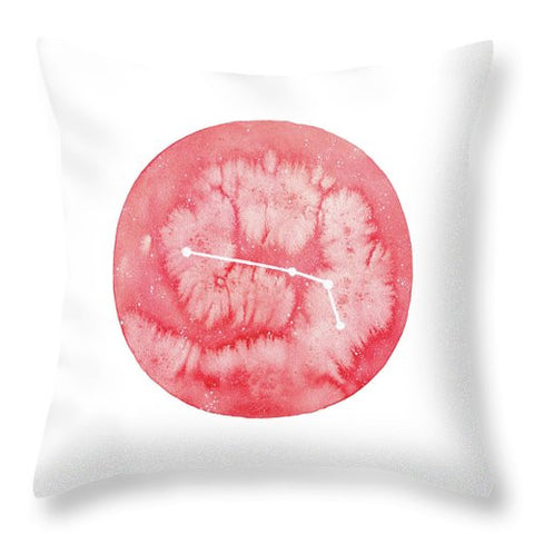 Throw Pillow - Aries painting by Virginia Beach Artist Stephie Jones