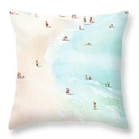 Throw Pillow - Azul painting by Virginia Beach Artist Stephie Jones