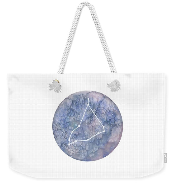Weekender Tote Bag - Capricorn painting by Virginia Beach Artist Stephie Jones
