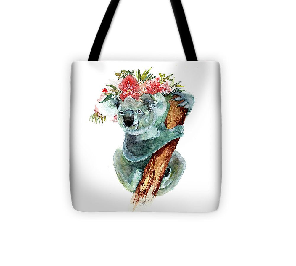 Tote Bag - Coco The Koala painting by Virginia Beach Artist Stephie Jones