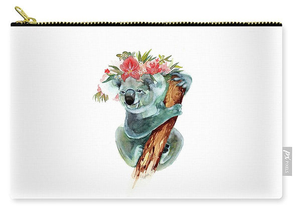 Carry-All Pouch - Coco The Koala painting by Virginia Beach Artist Stephie Jones
