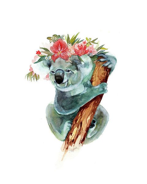 Coco The Koala, Print painting by Virginia Beach Artist Stephie Jones