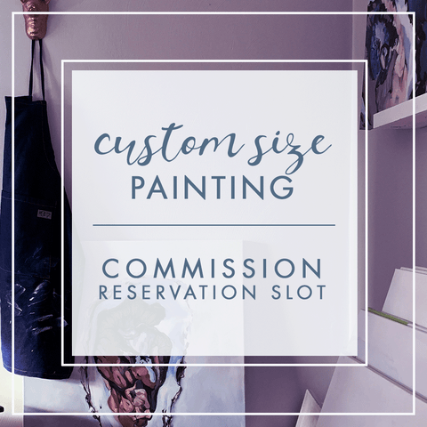 Custom Size Commission Reservation painting by Virginia Beach Artist Stephie Jones