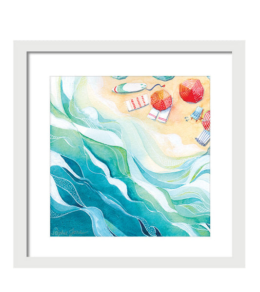 Flow, Print painting by Virginia Beach Artist Stephie Jones