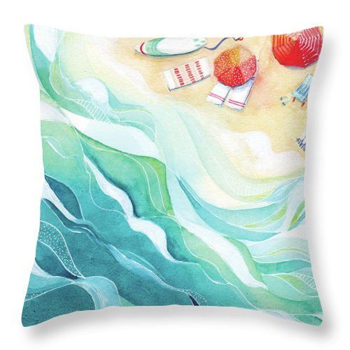 Throw Pillow - Flow painting by Virginia Beach Artist Stephie Jones