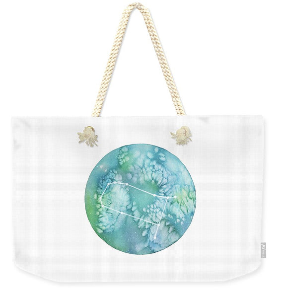 Weekender Tote Bag - Gemini painting by Virginia Beach Artist Stephie Jones