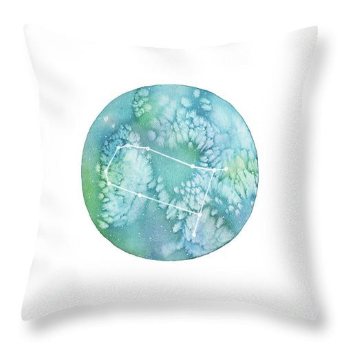 Throw Pillow - Gemini painting by Virginia Beach Artist Stephie Jones