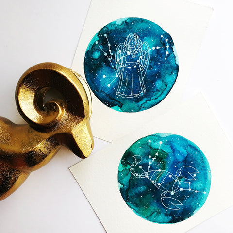 3 Petite Custom Constellation Paintings painting by Virginia Beach Artist Stephie Jones