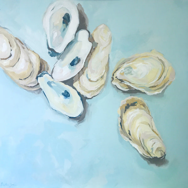 Bonhour, Original Painting painting by Virginia Beach Artist Stephie Jones