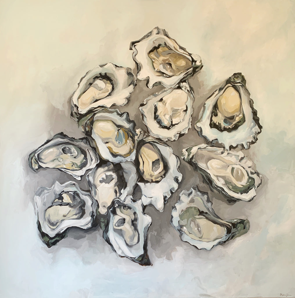 A Chuckle of Rocks, Original Painting painting by Virginia Beach Artist Stephie Jones