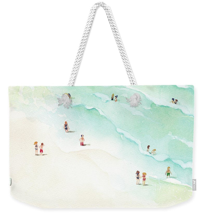 Weekender Tote Bag - La Playa painting by Virginia Beach Artist Stephie Jones