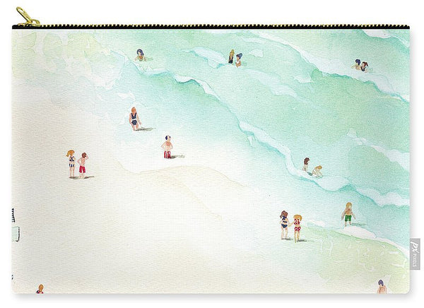 Carry-All Pouch - La Playa painting by Virginia Beach Artist Stephie Jones