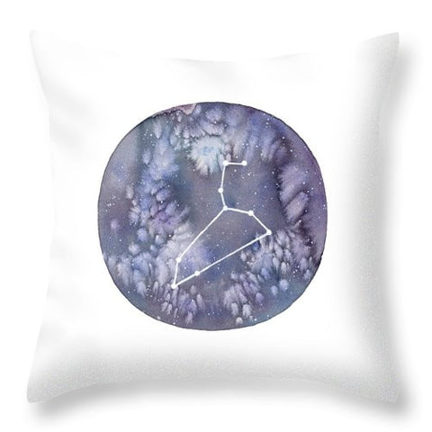 Throw Pillow - Leo painting by Virginia Beach Artist Stephie Jones