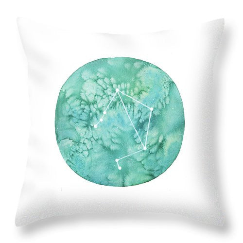 Throw Pillow - Libra painting by Virginia Beach Artist Stephie Jones