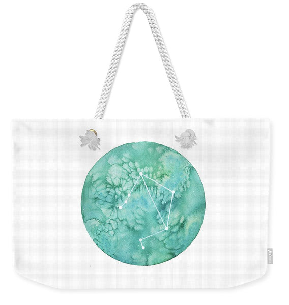 Weekender Tote Bag - Libra painting by Virginia Beach Artist Stephie Jones