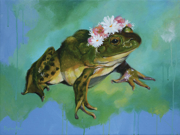 Lily, Print painting by Virginia Beach Artist Stephie Jones