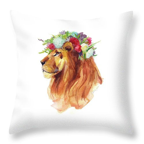 Throw Pillow - Lyon Pride painting by Virginia Beach Artist Stephie Jones